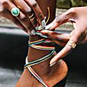 Martha Mae Malachite Ring In Gold image