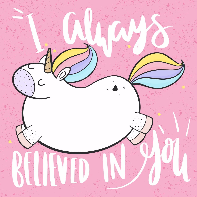 I Believe In You Unicorn Card House Of Wonderland Wolf
