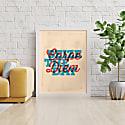 Carpe Diem Print - Red & Blue image