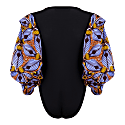 Naa African Print Exaggerated Sleeve Bodysuit - Tiger Lily image