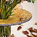 Pele Low Vase Volcanic Stone & Gold image