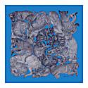 'Sleeping Dogs' Azure Fringed Silk Twill Scarf image