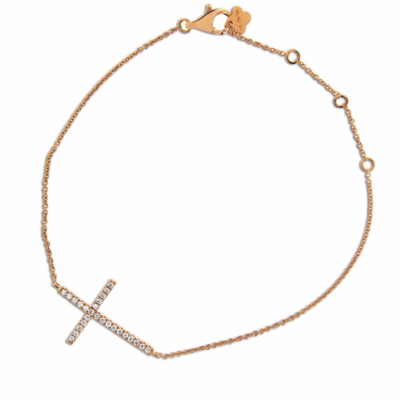 140b70f91 Diamond Cross Bracelet 18k Rose Gold   Cosanuova   Wolf & Badger