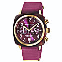Briston Clubmaster Classic Chronograph Tortoise Shell Acetate, Cardinal Grape Colour image
