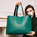 Julia Tote In Emerald Green image