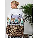 Leopardess Short Cardigan Lilac image