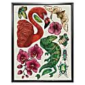 Antique Tropical Flora & Fauna - Cream Fine Art Print A4 image