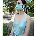 Pure Silk Turquoise Matching Face Mask & Camisole Set image