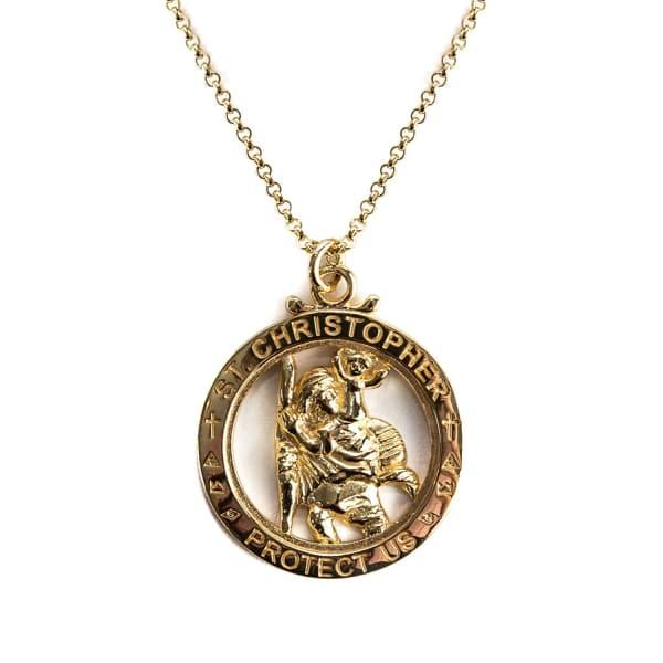 SERGE DENIMES Gold St Christopher Necklace