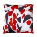 Koi I Style 3 Red & White Velvet Cushion image