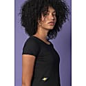 Bee Embroidered T-Shirt Black Women image