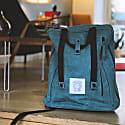Poly Vegan Backpack Aqua Marine Waxed Canvas image