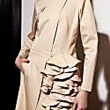 Asymmetric Biker Dress Beige image