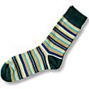 Stripy Turquoise Bamboo Socks image