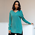 Asta Cashmere Tunic In Turquoise image