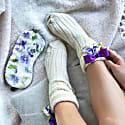 Silk Bow Socks & Sleep Mask Gift Set image