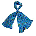 Squares On Blue Silk Scarf image