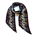 Tiger Silk Neck Scarf Burnt Orange image
