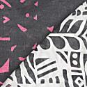 Tribal Linen/Modal Foulard - Grey & Pink image