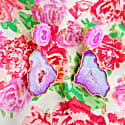 Pastel 'Summer Love' Gemstone Gold Statement Earrings image