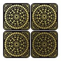 Insect Mandala Coasters Set Of 4 image