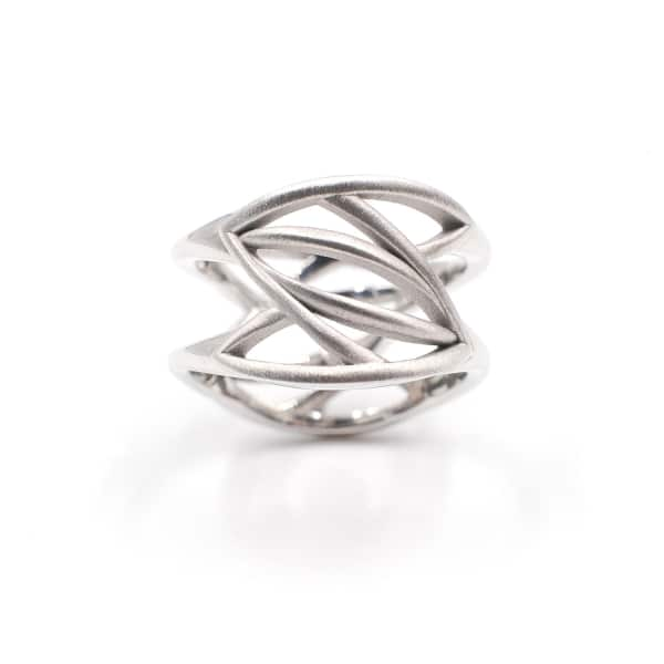 ANNA MACHADO JEWELRY Leaves On Two Sides Ring