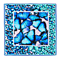 Scarf Blue Butterfly Twill image