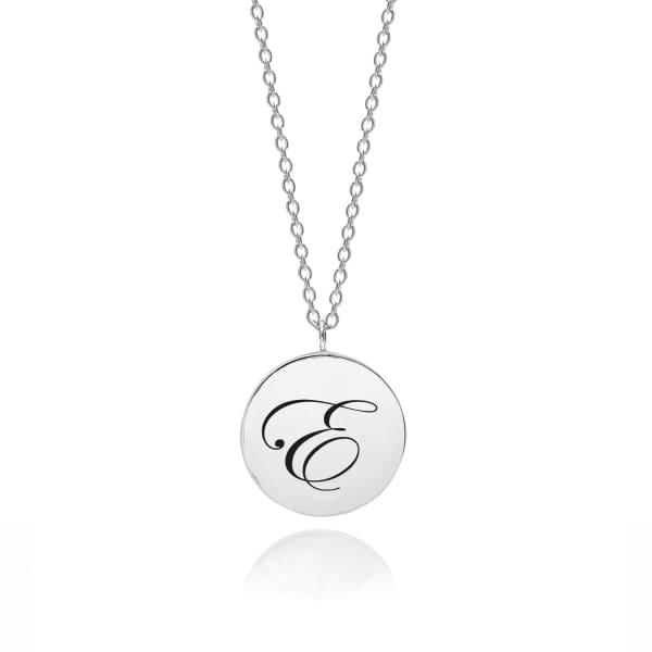 MYIA BONNER Sterling Silver Initial E Edwardian Pendant