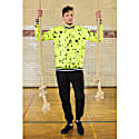 Neon Yellow Splatter Print Sweatshirt image