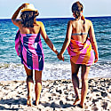 Carnival Travel Towel Orange & Hot Pink image