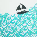 Bigger Boat Screen Print in Aqua image