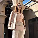 Tweed-Trimmed Sustainable Wool Blazer image