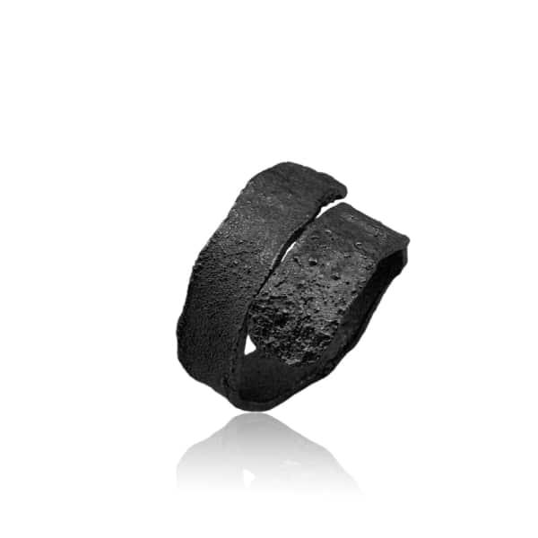 KAROLINA BIK JEWELLERY Algae Ring Black