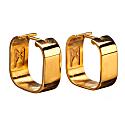 Signature Creole Earrings Polished Gold image