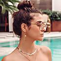 Chevron Herringbone Necklace image