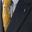 Liberty Print Tie - Capel Mustard image