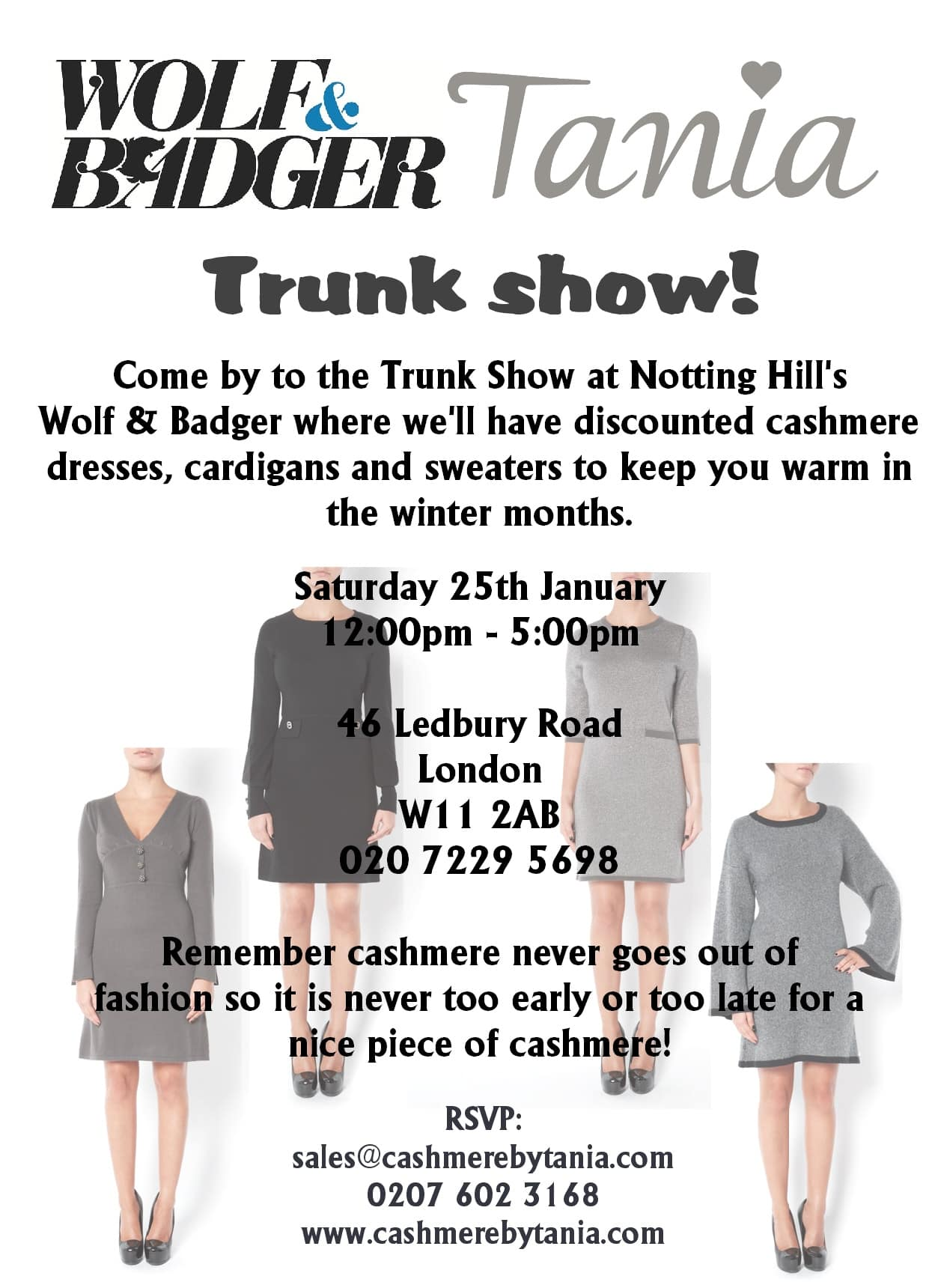 Wolf and Badger trunk show