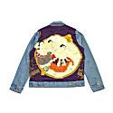 Custom Denim Jacket - Purple Fighter image