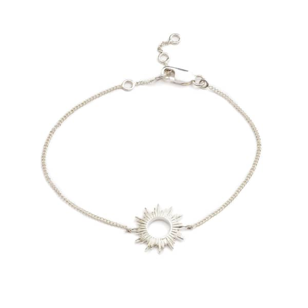 Sunrays Bracelet In Silver from Wolf & Badger