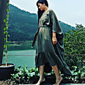 Tree Moss Green Kaftan Dress image