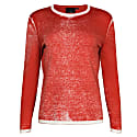 Red Cotton Hand Print Pullover image