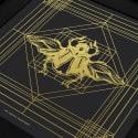 Deco Scarab Print Gold & Black image