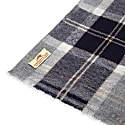 Cashmere & Merino Wool Scarf - Blue & Grey Tartan image