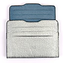 Double Card Holder Silver & Deep Blue image
