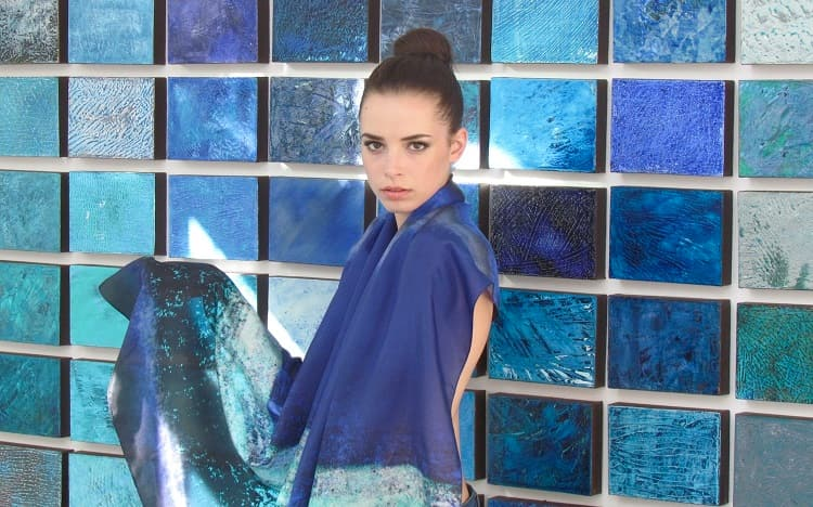 Large scarf Foulart, Deep Blue Sea, VP, Izabella Kay, 3rd image