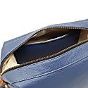Medium Sloane Blue Leather Toiletry Case image