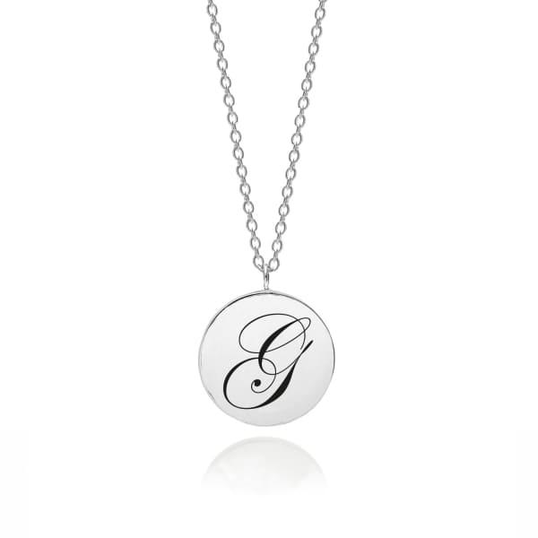 MYIA BONNER Sterling Silver Initial G Edwardian Pendant