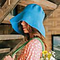 Bloom Crochet Sun Hat, In Mosaic Blue image