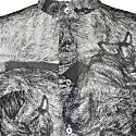 'Sleeping Dogs' Unisex Lightweight Cotton Shirt With Mandarin Collar image