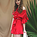 Juliette Red Ruffle Dress image